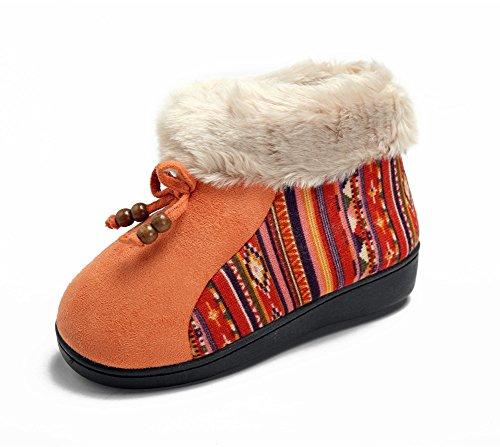 Polliwoo Fille Bottes De Neige Hiver Boots Laine Antidérapage Hiver Bottines de cheville pour neutre Enfant Orange