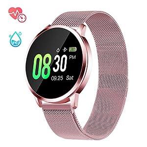 GOKOO Smartwatch Mujer Rosa Impermeable Reloj Inteligente Elegante Fitness