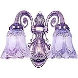 SG Enterprises Gorgeous Looking Antique Style Double Lamp Decorative Wall Hanging Light