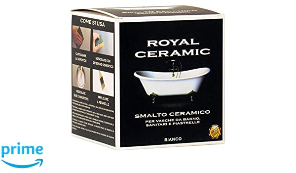 Smaltare Vasca Da Bagno Prezzi : Brava rc3 royal ceramic smalto per vasche da bagno bianco 375 ml