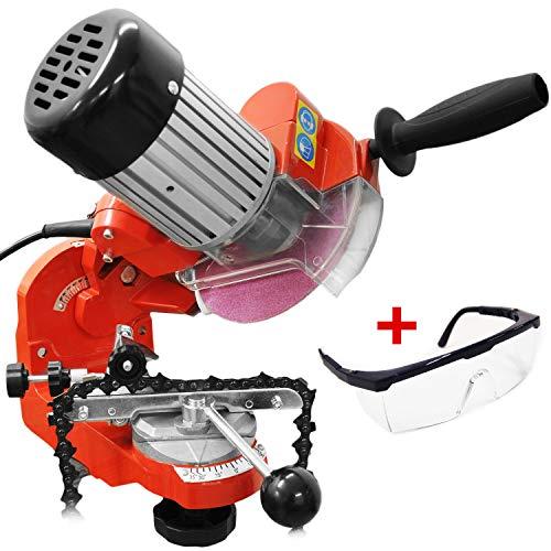 HECHT Sägeketten-Schleifgerät 9230 Kettenschärfer - Drehbare Spannvorrichtung, einstellbarer Schleifkopf inkl. 2 Schleifscheiben