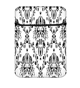 Snoogg Grey Branched Pattern 13 inch Laptop Case Flip Sleeve Bag Computer Cover
