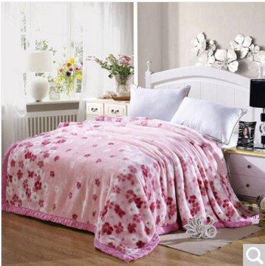 BDUK Double-Thick Raschel komprimieren Decke Studenten und Betten mit warmen Winter romantische Hochzeit Decken Decken,I,200*230cm/8 Catty