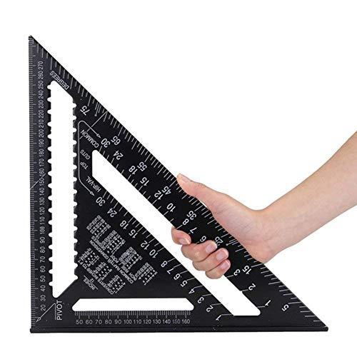 12 pulgadas de aleación de aluminio Triángulo Regla Cuadrante transportador de alta precisión herramienta de medición para ingeniero carpintero
