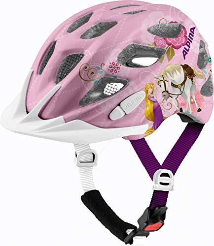 ALPINA Rocky Kinder Fahrradhelm (Größe: 47-52 cm, 51 Disney Rapunzel)