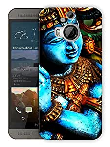 "Humor Gang Krishna Moorti Abstract - Indian Hindu God Printed Designer Mobile Back Cover For ""HTC ONE M9 PLUS"" (3D, Matte Finish, Premium Quality, Protective Snap On Slim Hard Phone Case, Multi Color)"