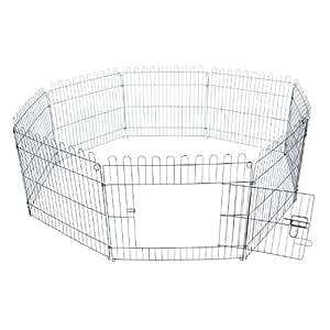 Outsunny - Recinto per cani gatti cuccioli roditori - Recinzione Rete Gabbia 71x61cm 8pz