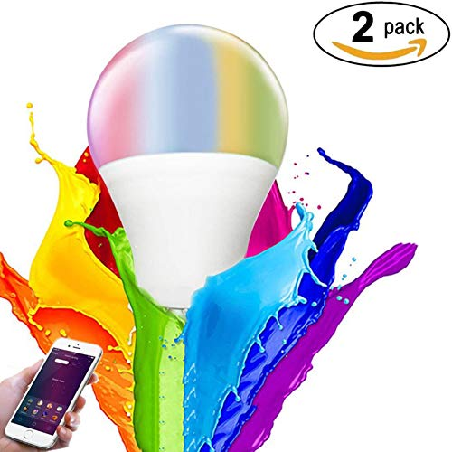 RQINW LED-Dimmable-WLAN-Smart-Birne, (220V-240V 11W E27) Smartphone-Fernbedienung Und Sprachsteuerung Von Amazon Alexa Und Google Home