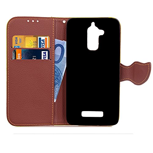 Cover ASUS ZenFone 3 Max ZC520TL Caso,MAGQI Retro Due-Color Design Fatti a Mano di Copertura Alta Qualità Cuoio PU Slim Fit Cassa del Raccoglitore Staccabile Cinturino Funzione Dello Stand Slot per Schede[Antigraffio] [Impermeabile][A prova di polvere] Back Custodia Prenota Stylish Pelle Pprotettiva Conchiglia Phone Holder Case Per ASUS ZenFone 3 Max ZC520TL (Rosa)
