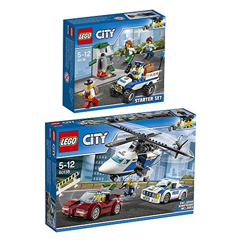 Preisvergleich Produktbild Lego CITY 2er Set 60136 60138 Polizei-Starter-Set + Rasante Verfolgungsjagd