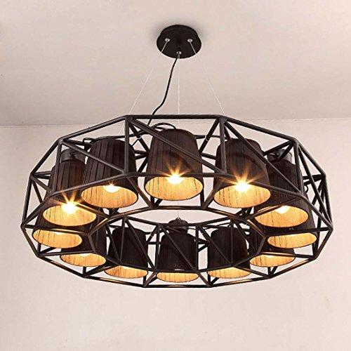 SSBY-vento industriale, lampadari vintage, soggiorno, sala da pranzo, camera Café, personalità creativa, lampadario in ferro battuto copre
