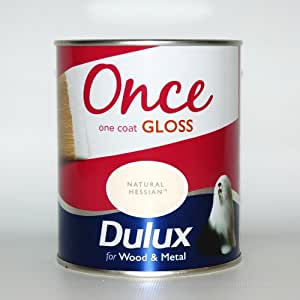 Dulux Once One Coat Gloss Natural Hessian 750ml Diy Tools