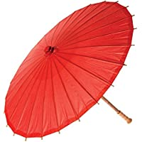 5Five Asian Japanese Chinese Umbrella Oil Paper Solid Colorful Umbrella 1 PC