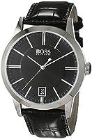 Hugo Boss–Reloj de pulsera analógico cuarzo piel