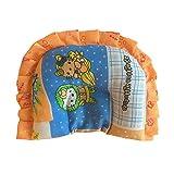 #8: Dhawariya's Presents New Born Baby Cotton Soft Fabric Musterd Seeds Rai Pillow For Baby Head Shaping Apple U Shape Takiya Detachable Mustard / Rai Seed Pouch For Easy Washing Feeding & Nursing Baby Neck Pillow (Blue Pink-2)