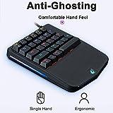 Diadia Freewolf K9 programmierbare Gaming-Tastatur, USB-Kabel, ergonomische mechanische Tastatur für PC/Laptop / Computer mit blauem Schalter, Handfreude
