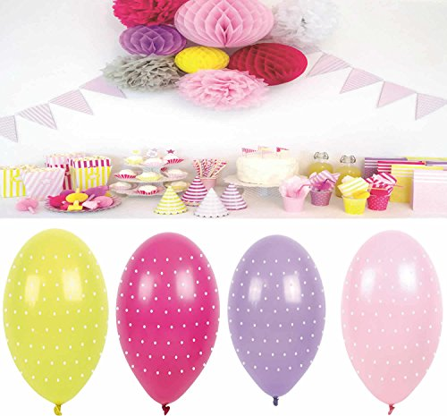 LS-LebenStil LS JaBaDaBaDo 8 Luftballon Lila Rosa Pink Gelb Luftballons Geburtstag Party B2004