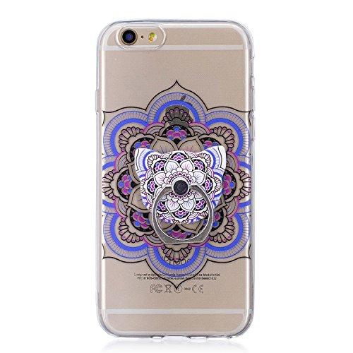 Custodia per iPhone 6S / 6 4.7 ,JIENI Le piume sognano Trasparente TPU Stent misto Cover Coperchio Flessibile Sottile Protettivo Morbido Silicone Custodia Skin Bumper Case per iPhone 6S / 6 4.7 FD61
