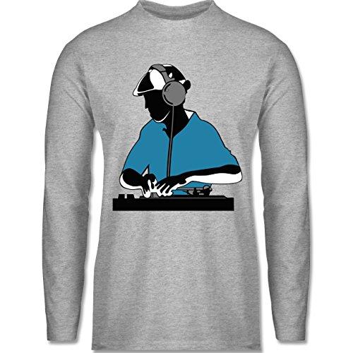 Shirtracer DJ - Discjockey - Discjockey - Herren Langarmshirt Grau Meliert