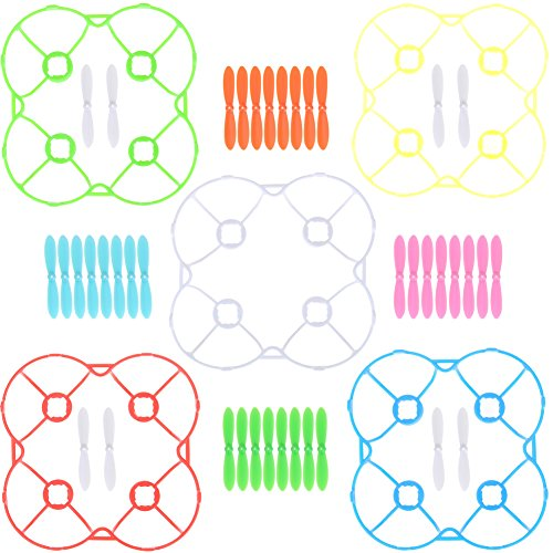 Drifter Drifters, 40pcs Propellers with 5 Blades 5 Cover Color for Cheerson CX-10 Compatible replacement parts