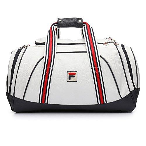 Fila Unisex Striker Duffle Bag, Navy, White, Chinese Red, One Size -