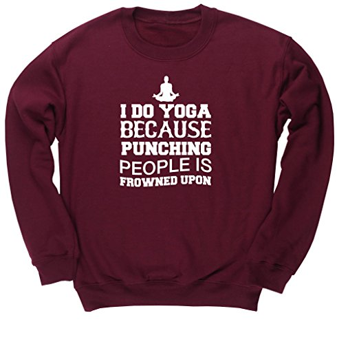 hippowarehouse-i-do-yoga-because-punching-people-is-frowned-upon-unisex-jumper-sweatshirt-pullover