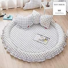 Colchón cómodo colchón Alfombra de tatami Para dormir, Colchón grueso suave plegable Topper Cama redonda