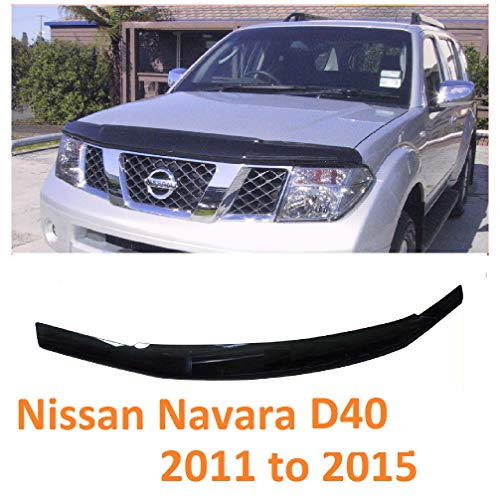Arange Navara D40 2011-15 Scudo Bonnet Guard Protector Black Bug * UK - HS002 -