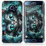 Coque Samsung Galaxy S6 Edge de chez Skinkin - Design original : Mad cheshire cat par Mandie Manzano