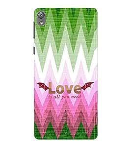 EPICCASE love is all u need Mobile Back Case Cover For Sony E5 (Designer Case)