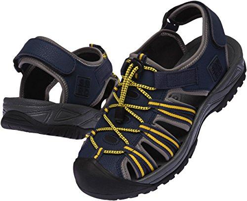 SNRD 210 Casual mixte de suivi à bout fermé Outdoor Sandals Noir - Noir/jaune
