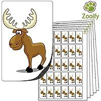 480 adesivi - alce americano (38 x 21 mm) Etichette autoadesive con animali di alta qualità di Zooify.