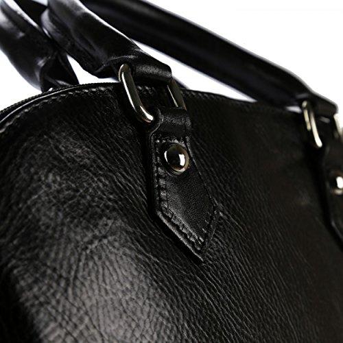 OLIVIA , Damen Henkeltasche schwarz schwarz schwarz