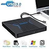 Lecteur Graveur CD Externe USB 3.0 Type-C Dual Port Graveur DVD Très Rapide Lecteur...