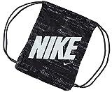 Herren Damen Kinder Unisex echtem Nike Graphic Gym Sack Pack Zubehör (schwarz/weiß, N)