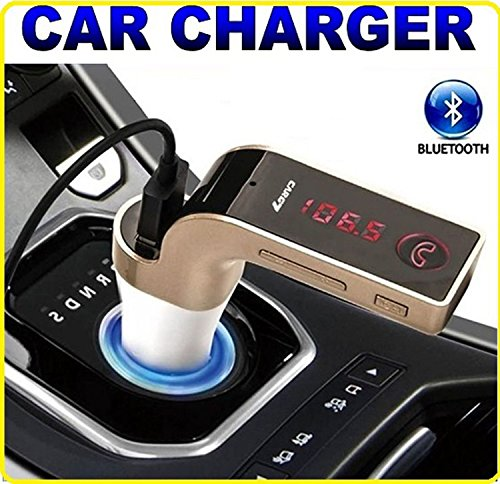 GKP Products ® Bluetooth Car Charger 2.5A with Turbo Charging/LED Screen/FM Transmitter/Supports...