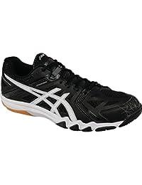 ASICS Men's Court Control Black, White and Graphite Mesh Indoor Multisport Court Shoes - 8 UK