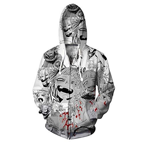 Yujingc Unisex Lustige Ahegao 3D Print Pullover Hoodie Sweatshirt mit Känguru Tasche Langarm Oberbekleidung Jacke für Herren Damen,B,3XL (B Halloween Lustig Sie)