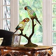 Glasmalerei Papagei Retro-Nachttischlampe Sofa-Ecke Café ein paar Bars und Clubs in Tiffany-Lampen