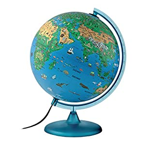 Atmosphere – Globo terráqueo Infantil, con Esfera de plástico, iluminada, en Castellano, 30 cm (Mapiberia Family S)