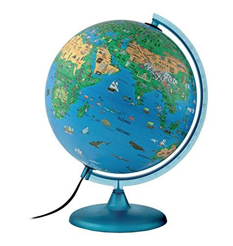 Atmosphere - Globo terráqueo infantil, con esfera de plástico, iluminada, en castellano, 30 cm (Mapiberia Family S)