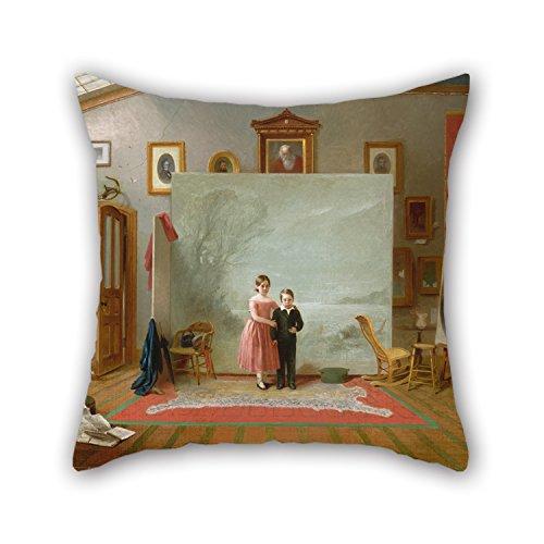45,7x 45,7cm/45von 45cm Ölgemälde Thomas Le klar,–Innen mit Portraits Werfen Kissen für, 2Seiten ist Passform für Weihnachten, GF, Betten, Liegestuhl, Vater, Büro