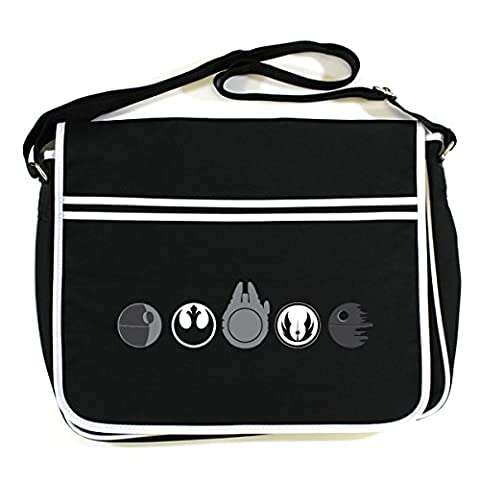 STAR WARS: SW 5 CIRCLES Retro Messenger Bag (One Size Fits All/Black)