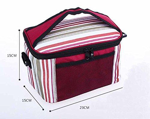 Pacchetto Di Isolamento Picnic All'aperto Refrigerante Pacchetto Bag Pranzo Borsa Portatile,Red Blue