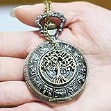 Montre collier pendentif arbre de vie Charme hommes de montre de poche collier montre de poche Pendentif Arbre de Vie Simple rond
