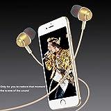FREEDOM SALE/ EARPHONE/HEADPHONE/ Type C -01 Headphone With Mic Rugged Metallic Series C TYPE earphone Compatible for LeEco Le 2 LeEco Le 2 Apple iPhone 7 LeEco Le Max2 Apple iPhone 7 Plus Moto Z HTC U Ultra LeEco Le Pro 3 & All Type C Earphone Jacks EZ369-Gold