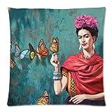Baumwolle Kissen Frida Kahlo bedruckt Reißverschluss Kissenbezug Fall 45,7x 45,7cm (Zwei Seiten bedruckt) von ttplay Store