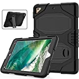 New iPad 6th Generation Case with Stand, Heavy Duty Soft Silicone Hard Bumper