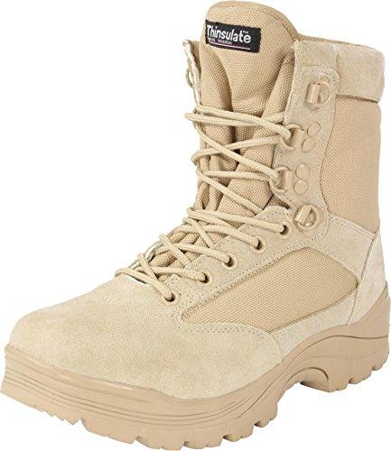 Herren Tactical Boots mit Thinsulate® Fütterung und Reißverschluss Khaki