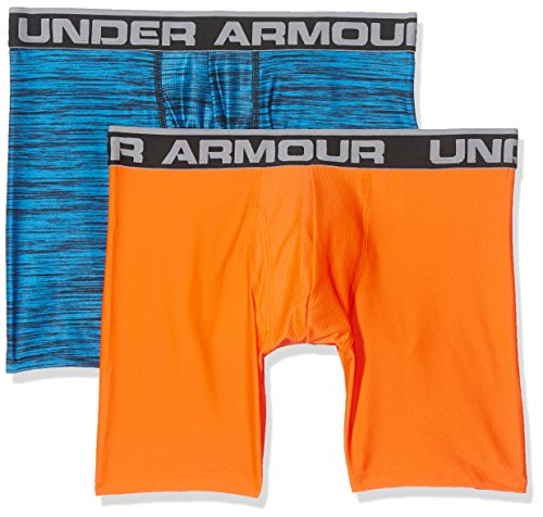 Under Armour Herren Original 6in 2 Pack Novlty Unterhose, Brilliant Blue, XL (Armour Herren Under Short Performance)